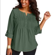 Charter club plus size three quarter sleeve top Charter club plus size three quarter sleeve top Charter Club Tops Blouses