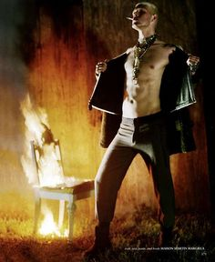 Burnout By Jeff Bark.  Men's Fashion Photography.