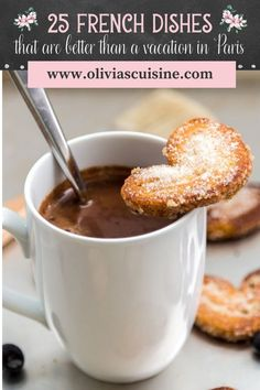 From Boeuf Bourguignon and croissants, to quiche and baguettes, French food has everything you could want! It's decadent, delicate, and delicious, and also easy to make in the comfort of your own kitchen. This recipe roundup of French dishes is sure to make you feel like you're in Paris for the day! These easy french recipes are also perfect for a romantic date night at home this summer! #datenight #frenchrecipes French Dishes, French Food, One Pot Meals, Meals For One, Easy Weeknight Meals, Easy Meals, Easy French Recipes, Dinner Recipes, Dessert Recipes