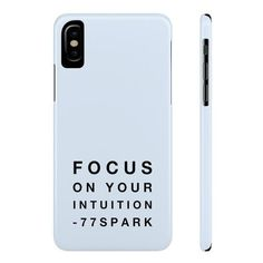 """""""Focus on your intuition"""" Slim Phone Cases ($30) ❤ liked on Polyvore featuring accessories, tech accessories, phone cases and phone"""