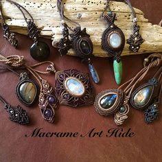 HIDEのラブラドライトと穴あきカボションコレクション!! #macrame#pendant #necklace #accessories #Fashion #gemstone #天然石#パワーストーン#ネックレス#ペンダント#アクセサリー#ハンドメイド#handmade #macramearthide#マクラメ#art#アート#design#デザイン#ジュエリー#jewelry#whitelabradorite #labradorite #turquoise #kyanite #rainbowmoonstone