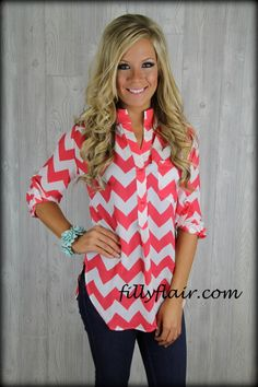 (http://www.fillyflair.com/new-intern-chevron-blouse-in-coral/)