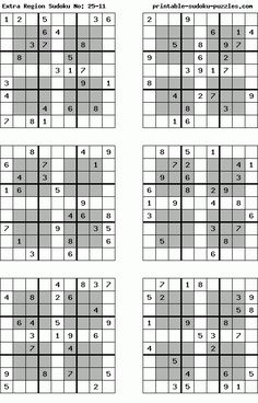 Invaluable image pertaining to krazydad printable sudoku