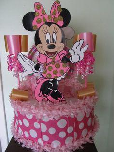 Minnie Mouse rosa & oro a mano compleanno di Pinataland2001