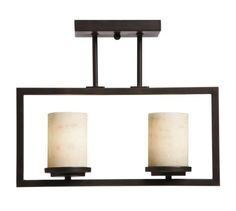 Artcraft Lighting SC692 Park Avenue 2-Lite Semi-Flush Mount Light, Oil-Rubbed Bronze - Amazon.com