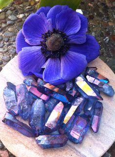 Tanzine Aura Quartz Energy of the Blue Ray by TheSageGoddess, $10.00