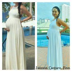 Vestido de viscolight costa nadador. Confeccionado por Joanna Costura Fina.