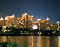 .at night.. all lit up... Atlantis