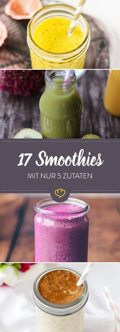 Auf Gemüse- oder Obstbasis oder ganz cremig als Frühstücks-Sattmacher: Diese … On a vegetable or fruit basis or quite creamy as a breakfast satiety: These smoothies you have prepared with a few ingredients and mixed lightning fast. Apple Smoothies, Healthy Smoothies, Smoothie Recipes, Breakfast Smoothies, Juice Recipes, Healthy Fruits, Menu Dieta, Le Diner, Few Ingredients