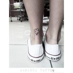 Four Leaf Clover on the ankle https://www.instagram.com/bahadircemtattoo/ #fourleafclover #clovertattoo #leaftattoo #tattoo #tattoos #tattoodesign #smalltattoo #minimaltattoo #littletattoo #dövme #dovme #yonca #inked #ink #ankletattoo #tatted #tattooideas #smalltattooideas