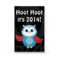 Custom Owl 2014 Calendar from Zazzle.com