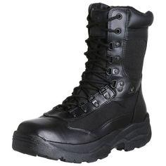 "Rocky Duty Men's Fort Hood 8"" Side Zip Boot Rocky. $89.99. Guaranteed Rocky Waterproof construction. leather. Non-Insulated. Rubber sole. Side Zipper. Full-Grain Waterproof Polishable Leather and 1200 Denier Cordura. Non-Metallic Stabilizer"