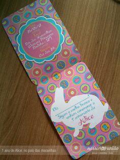 alice no pais das maravilhas #convite   Alice in Wonderland #invitation