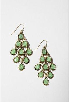 #green #earrings #accessory