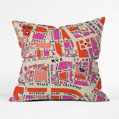 Francophiles and girly girls unite! This playful pillow marks out the…
