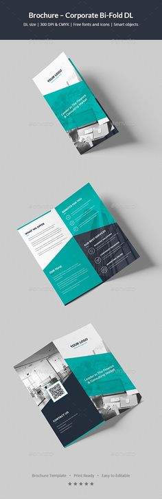 Brochure – Corporate BiFold DL — Photoshop PSD #analysis #work • Available here → https://graphicriver.net/item/brochure-corporate-bifold-dl/20262463?ref=pxcr
