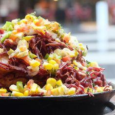 Resorts World Manila, Truffle Fries, Corned Beef, Soul Food, Truffles, Cobb Salad, Chili, Soup, Chile