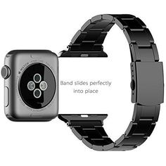 Apple Watch Band iWatch Replacement Wrist Strap 42mm Stainless Steel Men Black #Kbrand