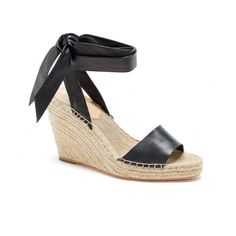 Harper Wrap Espadrille Wedge (19.400 RUB) via Polyvore featuring shoes, sandals, ankle strap wedge sandals, ankle wrap shoes, wrap sandals, ankle tie espadrilles и ankle strap sandals