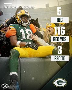 1/8/2017 Great game Randall Cobb!