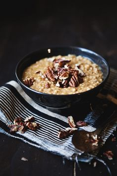 Pumpkin pie steel cut oats.
