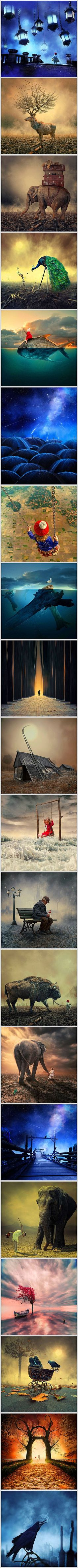 Some photography purists resent photo manipulation, but others enjoy how it has opened up photography to new people and new ideas. Caras Ionut is a Romanian photographer and digital artist who makes a great case for digital art and photography. He has created an extensive body of images that are beautiful, enchanting – and impossible.