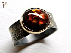 fire agate ring gold silver, celtic promise ring, viking engagement ring, fire agate proposal ring gold fusion ring, mens pinky ring unique - Wedding and engagement rings (*Amazon Partner-Link)