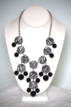 Silver Zebra Bubble Necklace - $29.00 Find it at http://www.facebook.com/armcandyauctions
