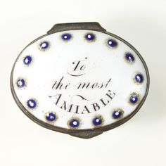 "Bilston Patch Box ""To the most Amiable"" - The Antique Enamel Company"