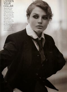 7e552960d4f35c Marie Claire September 1994 when a woman loves menswear Editorial bridget  hall mark vanderloo by jacques olivar kate moodie 4