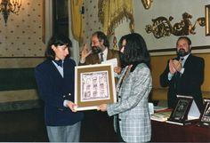 Premio Letterario Nazionale FRANCESCO PETRARCA - Sala Rossini - Padova - Consegna del premio al I° classificato