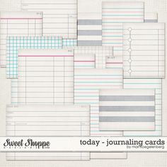 Today Journaling Cards by Mari Koegelenberg $2.99