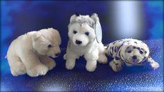 Eisbär, Husky und Robbe aus Plüsch von Teddykompaniet