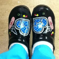 Love my nursing shoes Sanitas handpainted clogs