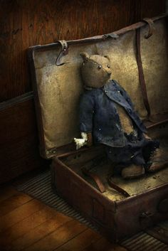 old attic bear, great image