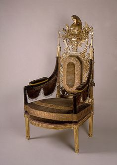 Chair for the President of the War Collegium.    Russia, 1784.    The Hermitage Museum