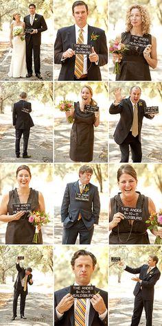 "Awesome ""mug shot"" wedding party portraits by Joan Allen Weddings with Julio Duffoo"