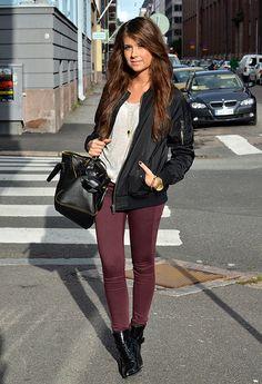 jacket, pant, maroon, booties, fall, winter, fashion