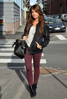 jacket, pant, maroon, booties, fall, winter, fashion