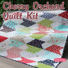 Cherry Orchard Quilt Kit Featuring Vintage Picnic by Bonnie & Camille | Fat Quarter Shop