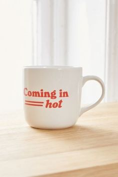 Shop Coming In Hot Mug at Urban Outfitters today. We carry all the latest styles, colors and brands for you to choose from right here.