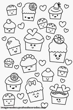 Birthday Cupcake Steady And Delicious Coloring Page Birthday