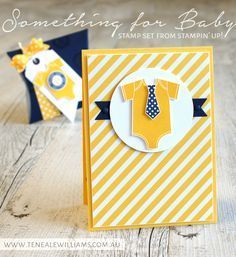 handmade card by Teneale Williams . Baby Boy welcome card with gift card pocket . luv the bold colors: Night Of Navy and Daffodil Delight . great clean and simple lines . Stampin' Up! Baby Boy Cards, New Baby Cards, Baby Shower Cards, Welcome Card, Gift Card Boxes, Kids Cards, Stampin Up Cards, Making Ideas, Cardmaking