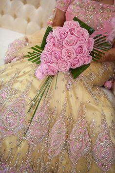 Light Pink & Yellow #Lehenga #Saree.