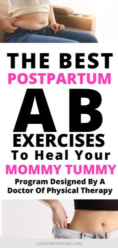 Here you will find the most effective and safest exercises to perform postpartum (week 6 and later) as advised by a physical therapist and mom of 4 (always consult your doctor before beginning exercise postpartum). Core Exercises For Women, Core Strength Exercises, Ab Exercises, Post Baby Workout, Mommy Workout, Doctor Of Physical Therapy, Physical Therapist, Postpartum Workout Plan, Postpartum Recovery