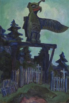 Graveyard Entrance, Campbell River, oil on canvas by Emily Carr Tom Thomson, Canadian Painters, Canadian Artists, Matisse, Emily Carr Paintings, Ottawa, Art Inuit, Art Chinois, Jackson