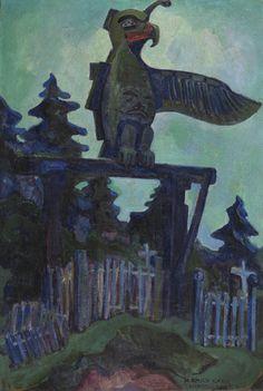 Emily Carr, Graveyard Entrance, Campbell River, 1912