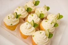 Margarita Cupcakes topped with Creamy Key Lime Frosting. Margarita Cupcakes, Key Lime Cupcakes, Yummy Cupcakes, Vegan Cupcakes, Pumpkin Cupcakes, Baking Cupcakes, Key Lime Buttercream, Buttercream Frosting, Ingredients For Cupcakes