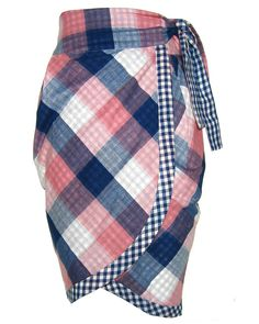Check Wrap Skirt - I am obsessed with this skirt. Not hard to recreate with a couple large men's shirts.