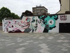 Philth Mural created at the Art on the Street Maidenhead June 2013